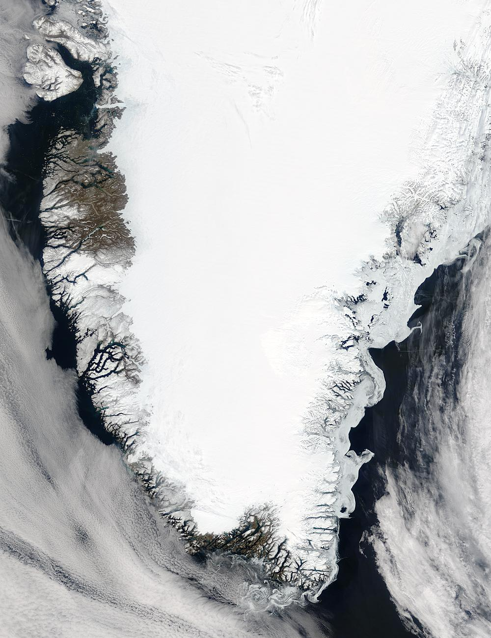 2004/150 - 05/29 at 14 :25 UTC Southern Greenland Satellite: Terra