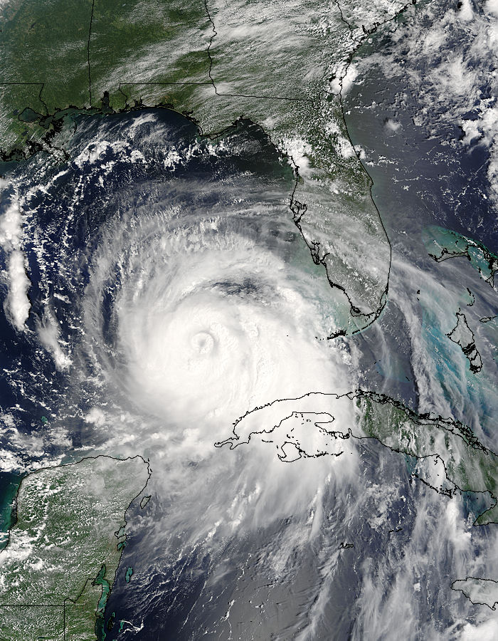 Hurricane Katrina (12L) in the Gulf of Mexico