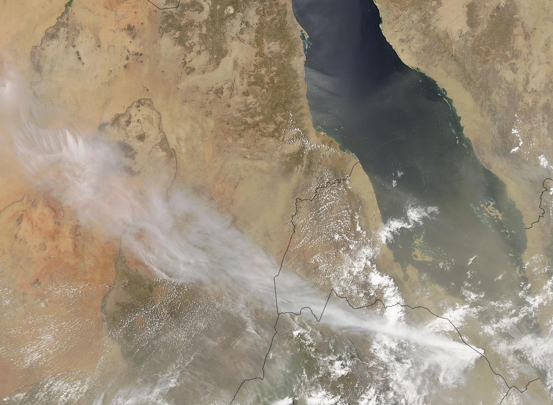 Vulkan Nabro in Eritrea Afrika
