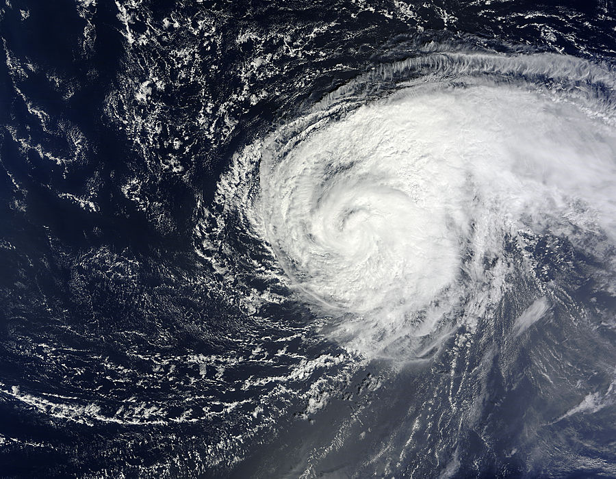 Image of Terra/MODIS 2012/260 13:45 UTC Hurricane Nadine (14L) in the Atlantic Ocean, Pixel size 2km
